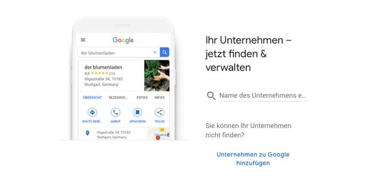google konto erstellen und unternehmenseintrag auf google my business machen